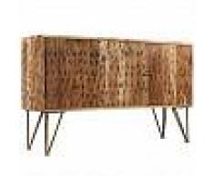 VidaXL Aparador madera maciza acacia patrones fractales 120x30x75 cm