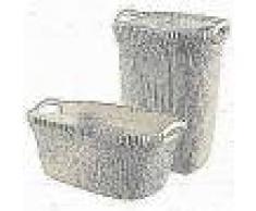 Curver Cesto de ropa sucia y de colada Knit blanco 97 L 240685