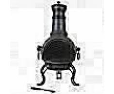 RedFire Chimenea clásica con parrilla Cadiz acero medio 84021