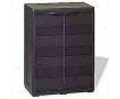 VidaXL Armario de jardín con 1 estante color negro