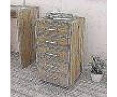VidaXL Cajonera de oficina con ruedas 5 cajones roble