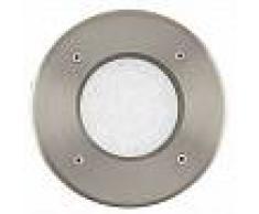 EGLO Foco LED para suelo exterior Lamedo 2,5 W redondo plateado 93482