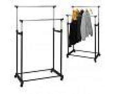 Storage solutions Perchero burro doble para ropa 4 ruedas metal