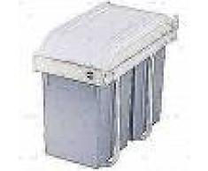 Hailo Papelera de armario Multi-Box Duo tamaño L 2x14 L crema 3659-001