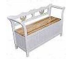 VidaXL Banco de almacenamiento 126x42x75 cm madera blanco
