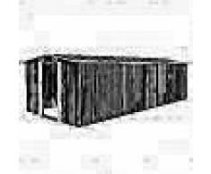 VidaXL Caseta de jardín de metal antracita 257x597x178 cm