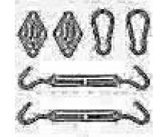 VidaXL Kit de montaje de toldo de vela 5 piezas acero inoxidable