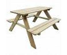VidaXL Mesa de picnic para niños madera de pino FSC 89x89,6x50,8 cm