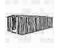 VidaXL Caseta de jardín de metal gris 257x597x178 cm