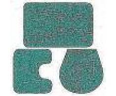 VidaXL Conjunto de alfombrillas de baño de tela 3 piezas turquesa