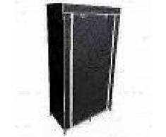 Perel Armario plegable 88x45x160 cm negro MP67