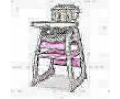VidaXL Trona convertible 3 en 1 con mesa rosa