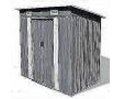 VidaXL Caseta de jardín de metal gris