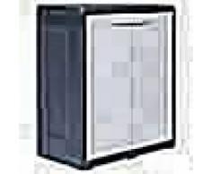 VidaXL Armario de almacenamiento para jardín XL 78x46x94 cm plástico