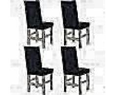 VidaXL Funda elástica para silla negra piqué 4 unidades