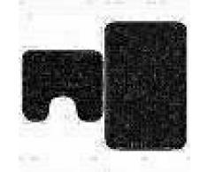 VidaXL Conjunto de alfombrillas de baño de tela 2 piezas antracita