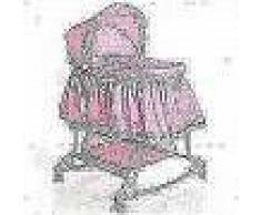 Little World Cuna mecedora 2 en 1 85x70x110 cm rosa LWFU002-PK