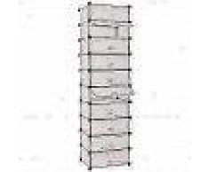 VidaXL Zapatero apilable con 10 compartimentos blanco