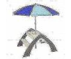 AXI Mesa de picnic infantil Delta gris y blanca A031.023.00