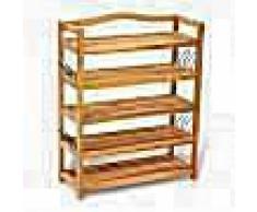 VidaXL Zapatero de madera con 5 estantes