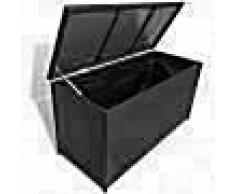 VidaXL Caja de almacenaje jardín 120x50x60 cm ratán sintético negro