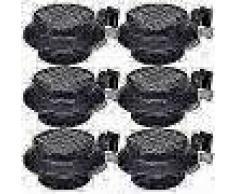 VidaXL Foco solar negro para vallas de jardín, 6 unidades