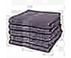 VidaXL Toallas de baño 5 unidades algodón 500 gsm 100x150 cm antracita