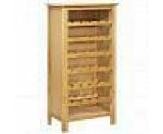 VidaXL Botellero de madera maciza de roble 56x32x110 cm