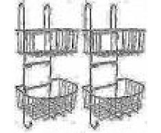 VidaXL Estantería de ducha 2 estantes 2 piezas metal