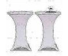 VidaXL 2 Manteles blancos ajustados para mesa de pie - 60 cm diámetro