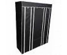 Perel Armario plegable 135x45x170 cm negro MP68