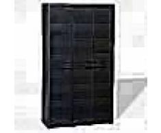 VidaXL Armario de jardín con 4 estantes negro