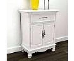 VidaXL Gabinete de madera con 2 puertas y un cajón blanco