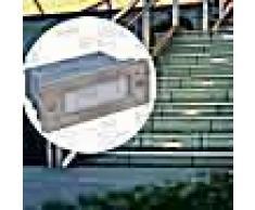 VidaXL Foco LED empotrable para escaleras 44 x 111 x 56 mm
