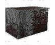 VidaXL Caja almacenaje exterior ratán sintético 150x100x100 cm marrón