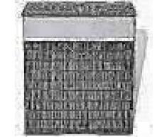 VidaXL Cesto de la ropa de bambú rectangular marrón oscuro