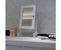 vidaXL Espejo joyero de madera con una puerta