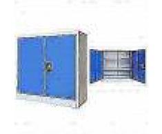 VidaXL Armario de oficina de metal 90x40x90 cm gris y azul