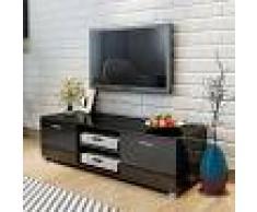 vidaXL Aparador para TV 140x40,3x34,7 cm negro brillante