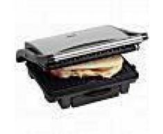 Bestron Parrilla grill ASW113S de 1000 W color plateado