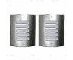 VidaXL 2 Apliques de exterior, lámparas de pared de acero inoxidable