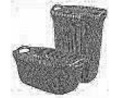 Curver Cesto de ropa sucia y de colada Knit marrón 97 L 240658
