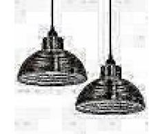 VidaXL lámparas colgantes de techo semiesféricas color cobre 2 uds