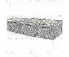 Curver Caja de almacenaje con tapa Style 3 uds L blanco 240656