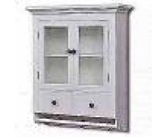 VidaXL Armario de cocina de pared de madera y puerta de vidrio blanco