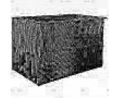 VidaXL Caja almacenaje exterior ratán sintético 150x100x100 cm negro