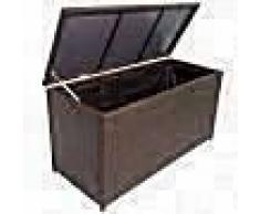VidaXL Caja de almacenaje jardín 120x50x60 cm ratán sintético marrón