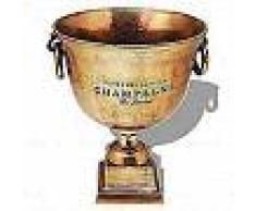 VidaXL Enfriador de champán copa trofeo marrón cobre
