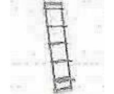 VidaXL Estantería de pared escalera madera de cedro 41,5x30x176 cm