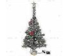 VidaXL Árbol Navidad artificial decorado bolas luces LED 64 cm verde